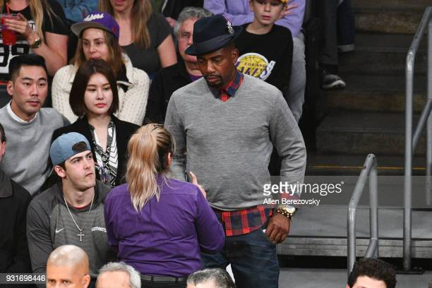 Actor Bill Bellamy attends a basketball game between the Los Angeles Lakers and the Denver Nuggets at Staples Center on March 13 2018 in Los Angeles...