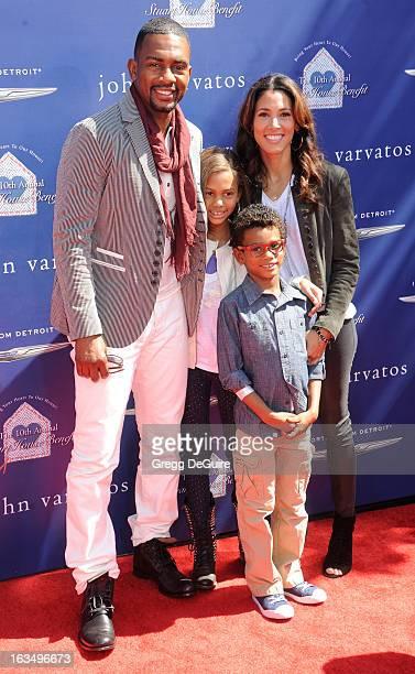 Actor Bill Bellamy wife Kristen Baker Bellamy and children Baron and Bailey arrives at John Varvatos 10th Annual Stuart House Benefit at John...