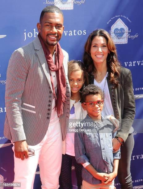 Actor Bill Bellamy wife Kristen Baker Bellamy and children Baron and Bailey arrive at John Varvatos 10th Annual Stuart House Benefit at John Varvatos...