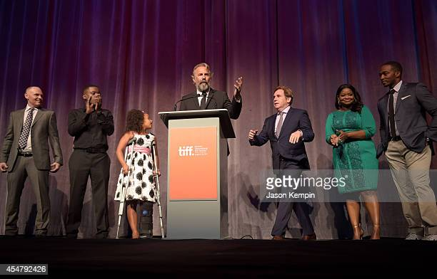 Actor Bill Burr actor Mpho Koaho actress Jillian Estell actor Kevin Costner director Mike Binder actress Octavia Spencer and actor Anthony Mackie...