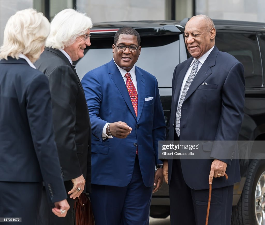 Actor Bill Cosby and new attorneys Kathleen Bliss and Thomas Mesereau are seen arriving to Montgomery County Courthouse prior a pre-trial hearing to discuss Cosby's new legal team on August 22, 2017 in Norristown, Pennsylvania.