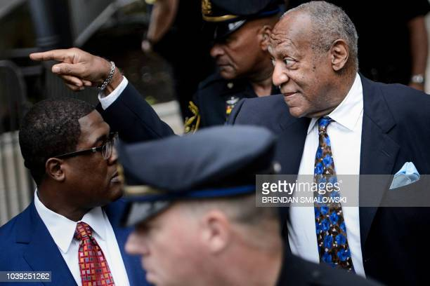 US actor Bill Cosby arrives at court on September 24 2018 in Norristown Pennsylvania to face sentencing for his sexual assault case Disgraced US...