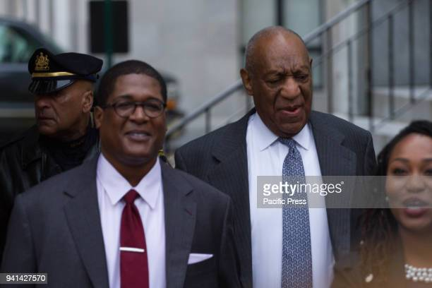 Actor Bill Cosby arrives at the Montgomery County Courthouse for the second day of jury selection in his retrial on sexual assault charges