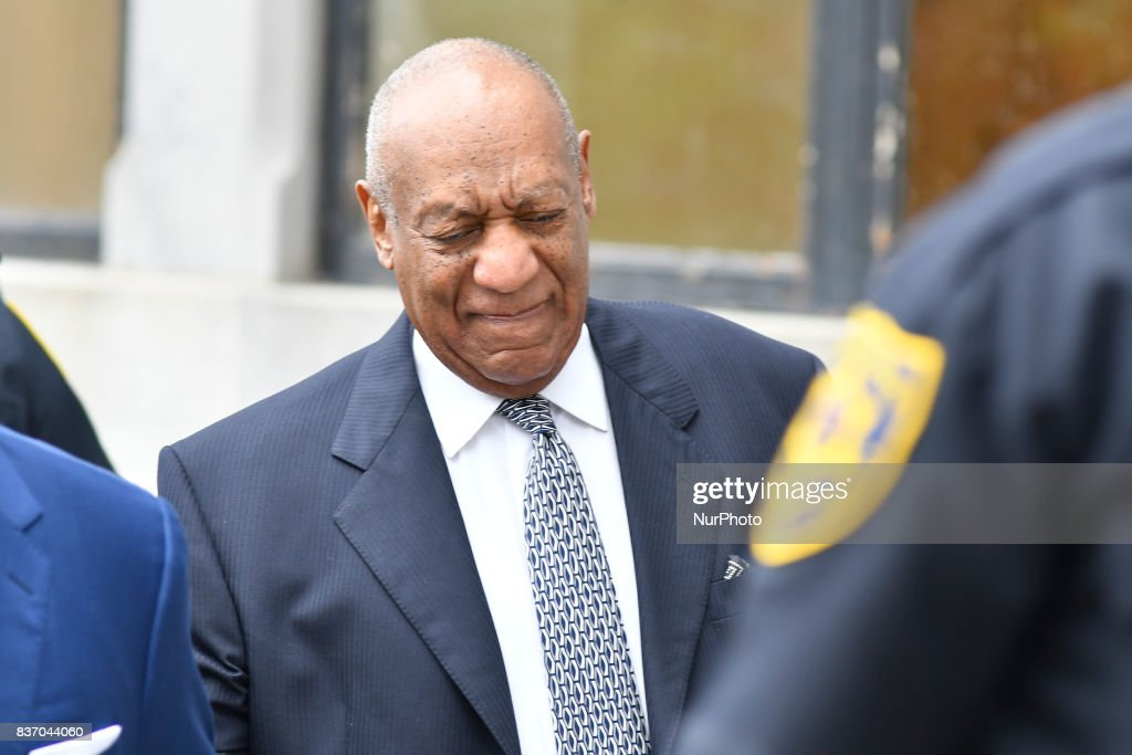 US Actor Bill Cosby arrives with his new defense team, including attorney ThomasMesereau, for a pre-trial hearing at Montgomery County Courthouse, in Norristown, on August 22, 2017.