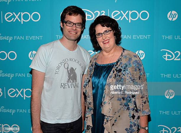"""Actor Bill Hader and actress Phyllis Smith of """"Inside Out"""" attend """"Art and Imagination: Animation at The Walt Disney Studios"""" presentation at..."""