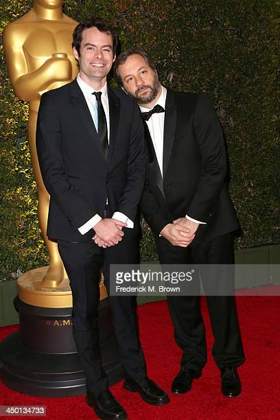 Actor Bill Hader and Director Judd Apatow arrive at the Academy of Motion Picture Arts and Sciences' Governors Awards at The Ray Dolby Ballroom at...