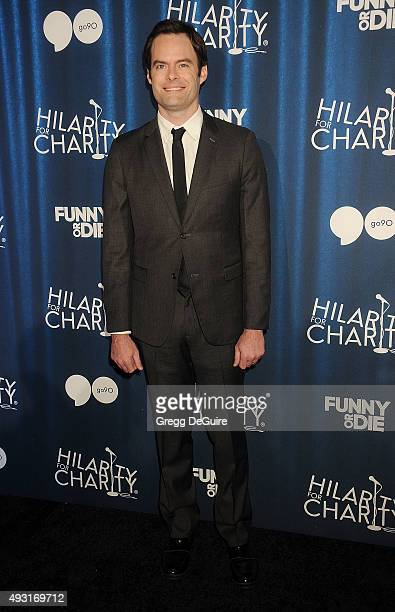 Actor Bill Hader arrives at Hilarity For Charity's 4th Annual Variety Show at Hollywood Palladium on October 17 2015 in Los Angeles California