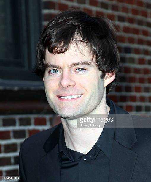 Actor Bill Hader arrives at 'Late Show With David Letterman' at the Ed Sullivan Theater on February 16 2011 in New York City