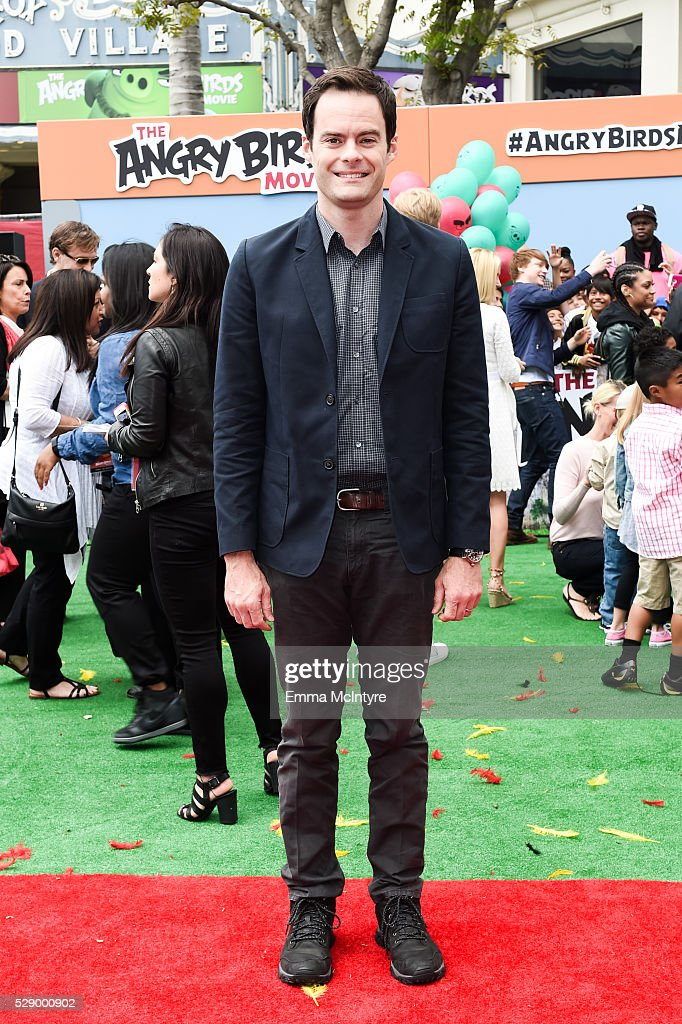 Actor Bill Hader arrives at the premiere of Sony Pictures' 'Angry Birds' at Regency Village Theatre on May 7, 2016 in Westwood, California.