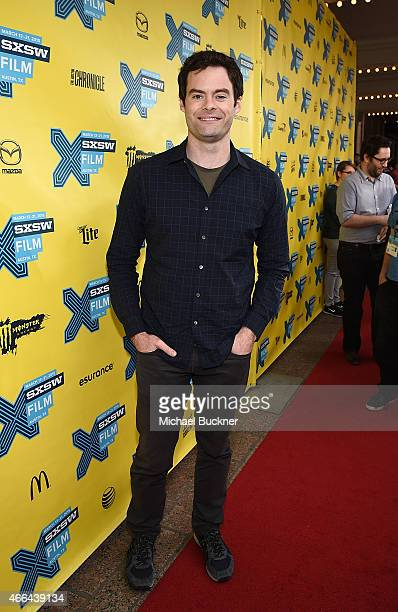 Actor Bill Hader arrives at the screening of 'Trainwreck' during the 2015 SXSW Music Film Interactive Festival at the Paramount on March 15 2015 in...