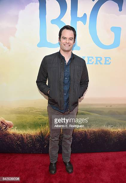 Actor Bill Hader arrives on the red carpet for the US premiere of Disney's The BFG directed and produced by Steven Spielberg A giant sized crowd...