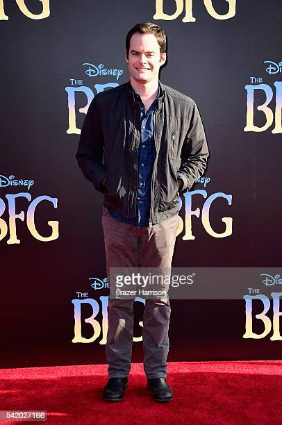 Actor Bill Hader attends Disney's 'The BFG' premiere at the El Capitan Theatre on June 21 2016 in Hollywood California