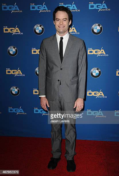 Actor Bill Hader attends the 67th annual Directors Guild of America Awards at the Hyatt Regency Century Plaza on February 7 2015 in Los Angeles...