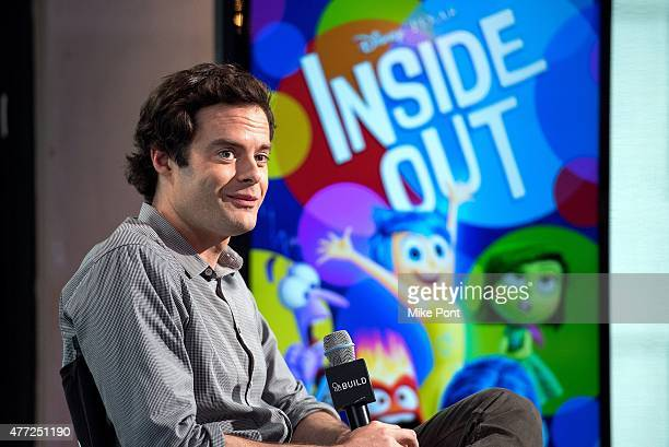 Actor Bill Hader attends the AOL BUILD Speaker Series to discuss his new film 'Inside Out' at AOL Studios in New York on June 15 2015 in New York City