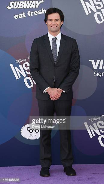 Actor Bill Hader attends the premiere of DisneyPixar's 'Inside Out' at the El Capitan Theatre on June 8 2015 in Hollywood California