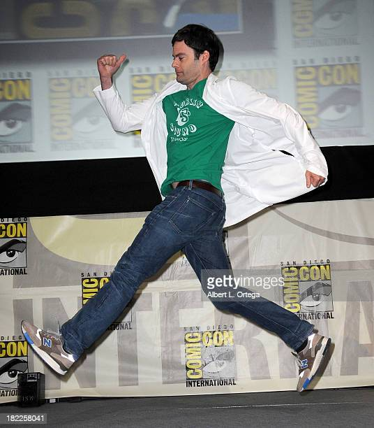 Actor Bill Hader attends The Sony and Screen Gems Panel featuring Cloudy With A Chance Of Meatballs 2 as part of ComicCon International 2013 held at...