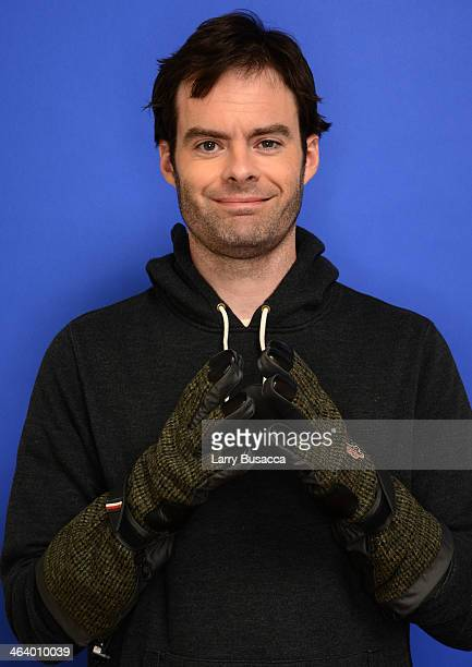 Actor Bill Hader poses for a portrait during the 2014 Sundance Film Festival at the Getty Images Portrait Studio at the Village At The Lift Presented...