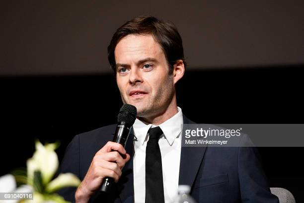 Actor Bill Hader speaks onstage during the FYC event for IFC's Brockmire and Documentary Now at Saban Media Center on May 31 2017 in North Hollywood...
