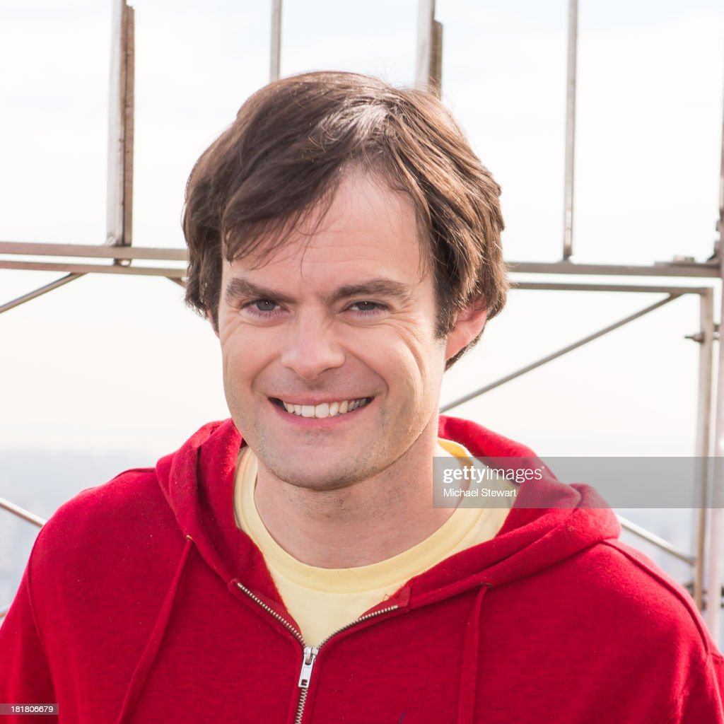 "Bill Hader Visits The Empire State Building In Celebration Of ""Cloudy With A Chance Of Meatballs 2"" Release"