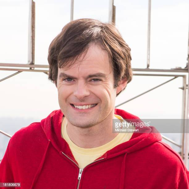 Actor Bill Hader visits at The Empire State Building on September 25 2013 in New York City