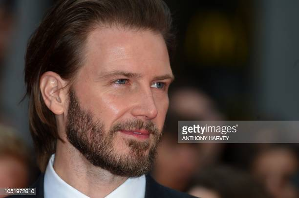 US actor Bill Heck poses upon arrival for the UK premiere of the film 'The Ballad of Buster Scruggs' during the BFI London Film Festival in London on...