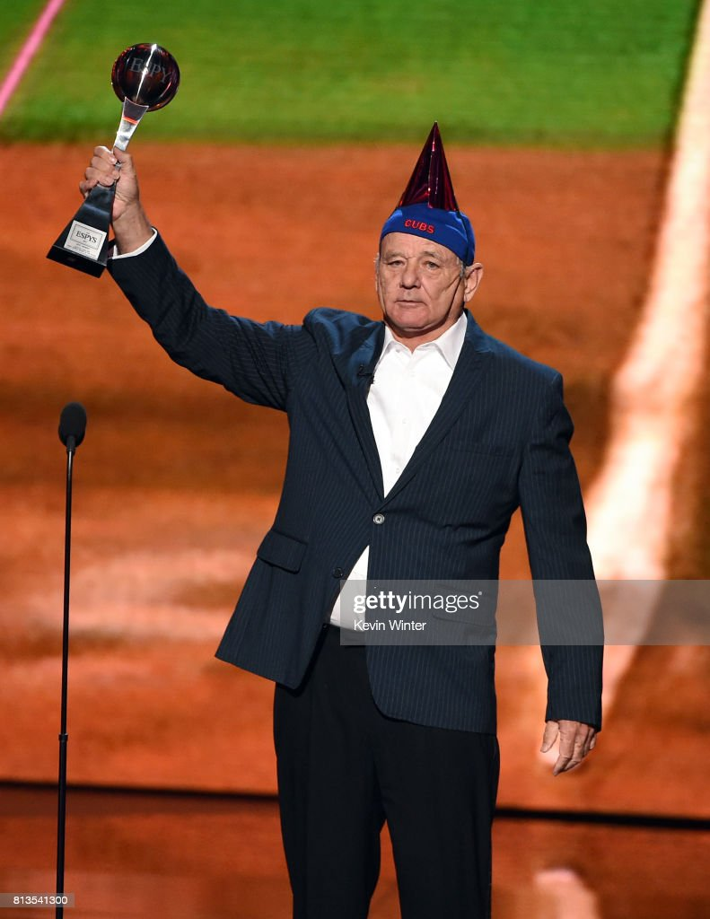 Actor Bill Murray accepts the Best Moment award on behalf of the 2016 World Series champion Chicago Cubs onstage at The 2017 ESPYS at Microsoft Theater on July 12, 2017 in Los Angeles, California.