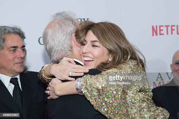Actor Bill Murray and Director/Executive Producer Sofia Coppola attend 'A Very Murray Christmas' New York Premiere at the Paris Theater on December 2...