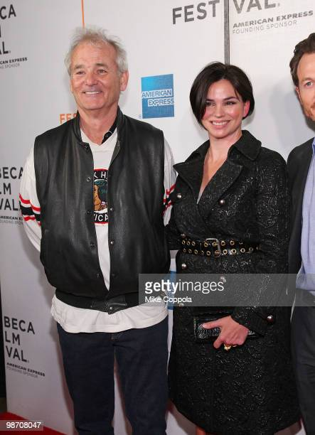 """Actor Bill Murray and television personality Karen Duffy attend the """"Get Low"""" premiere during the 9th Annual Tribeca Film Festival at the Tribeca..."""