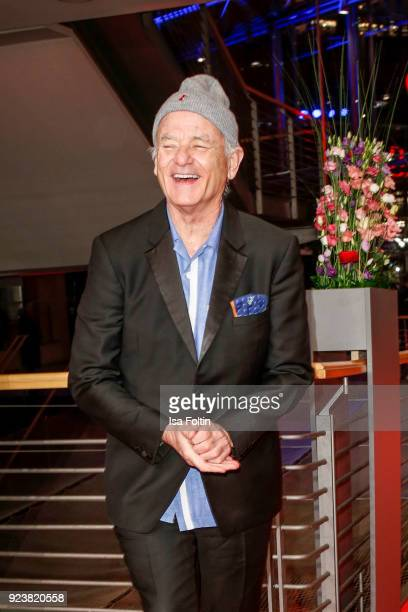 US actor Bill Murray attends the closing ceremony during the 68th Berlinale International Film Festival Berlin at Berlinale Palast on February 24...