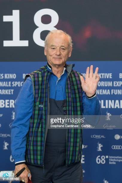 Actor Bill Murray attends the 'Isle of Dogs' press conference during the 68th Berlinale International Film Festival Berlin at Grand Hyatt Hotel on...