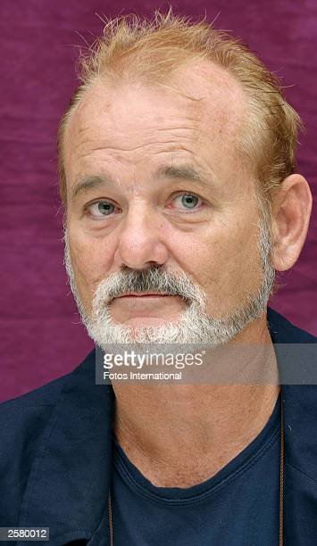 OUT*** Actor Bill Murray attends the press conference for his new film 'Lost in Translation' at the Four Seasons Hotel on August 17 2003 in Beverly...