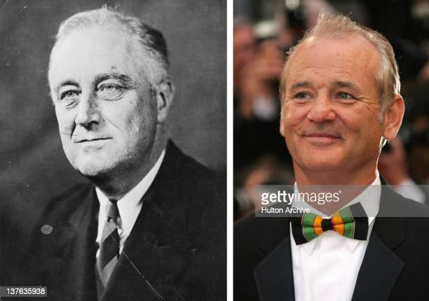 In this composite image a comparison has been made between Franklin D Roosevelt and actor Bill Murray Oscar hype continues this week with the...