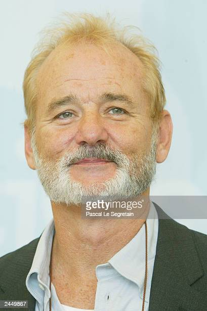 Actor Bill Murray poses during a photo call at the 60th Venice Film Festival on August 31 2003 in Venice Italy Coppola is in Venice to present her...