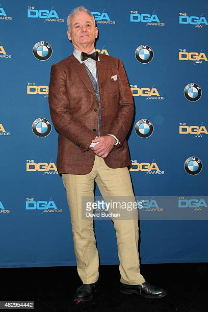 Actor Bill Murray poses in the press room at the 67th Annual Directors Guild Of America Awards at the Hyatt Regency Century Plaza on February 7, 2015...