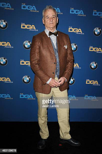 Actor Bill Murray poses in the press room at the 67th annual Directors Guild of America Awards at the Hyatt Regency Century Plaza on February 7 2015...