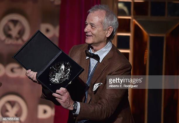 Actor Bill Murray speaks onstage at the 67th Annual Directors Guild Of America Awards at the Hyatt Regency Century Plaza on February 7 2015 in...