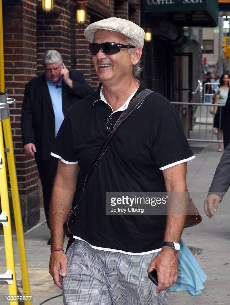 Actor Bill Murray visits Late Show With David Letterman at the Ed Sullivan Theater on July 21 2010 in New York City