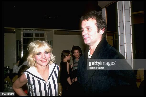 Actor Bill Murray w singer Debbie Harry