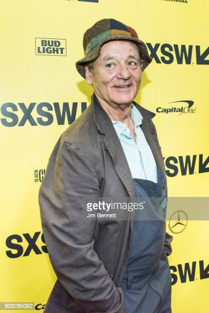 Actor Bill Murray walks the red carpet at the North American premiere of the film 'Isle of Dogs' to close the SXSW Film festival on March 17 2018 in...