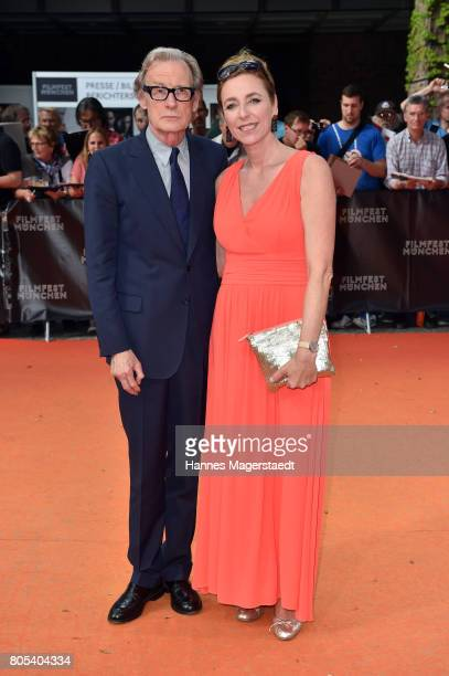 Actor Bill Nighy and Diana Iljine during premiere of 'Ihre Beste Stunde' as closing movie of Munich Film Festival 2017 at Gasteig on July 1 2017 in...