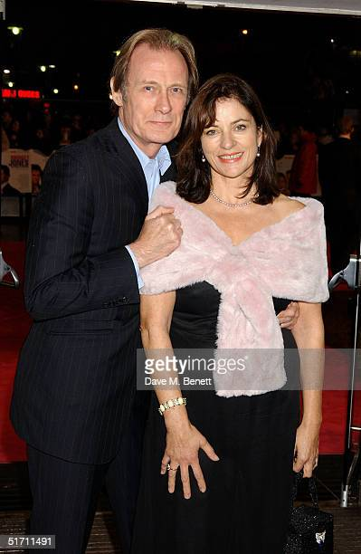 Actor Bill Nighy and Diana Quick arrive at the UK Gala Premiere of Bridget Jones The Edge Of Reason at the Odeon Leicester Square on November 9 2004...