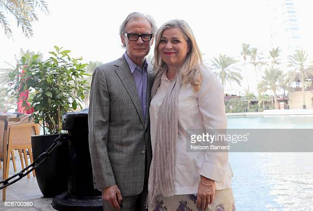 Actor Bill Nighy and director Lone Scherfig attend the Their Finest photocall during day three of the 13th annual Dubai International Film Festival...