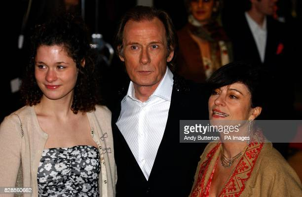 Actor Bill Nighy and his wife Diana Quick arrive for the UK Charity film Premiere of Love Actually, in aid of Comic Relief, held at the Odeon...