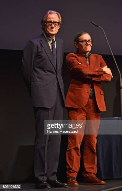 Actor Bill Nighy and producer Stephen Woolley during premiere of 'Ihre Beste Stunde' as closing movie of Munich Film Festival 2017 at Gasteig on July...