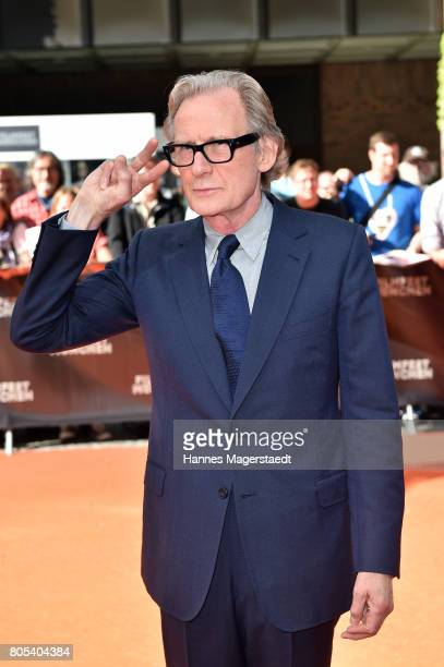 Actor Bill Nighy arrives at the premiere of 'Ihre Beste Stunde' as closing movie of Munich Film Festival 2017 at Gasteig on July 1 2017 in Munich...