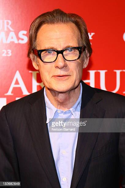 Actor Bill Nighy attends the Arthur Christmas premiere at the Clearview Chelsea Cinemas on November 13 2011 in New York City