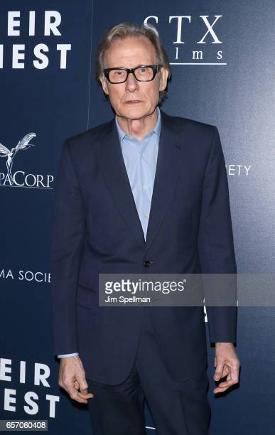 Actor Bill Nighy attends the premiere of 'Their Finest' hosted by STXfilms and EuropaCorp with The Cinema Society at SVA Theatre 2 on March 23 2017...