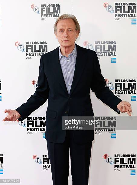 Actor Bill Nighy attends 'Their Finest' photocall during the 60th BFI London Film Festival at The Mayfair Hotel on October 13 2016 in London England
