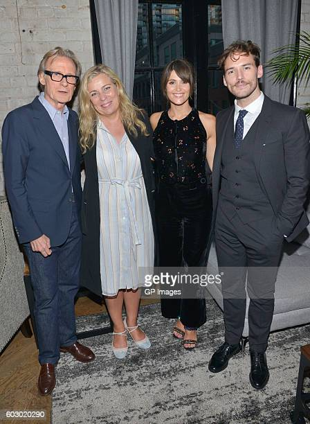 Actor Bill Nighy director Lone Scherfig actress Gemma Arterton and actor Sam Claflin attend the Their Finest TIFF Party hosted by PIPERHEIDSEICK...