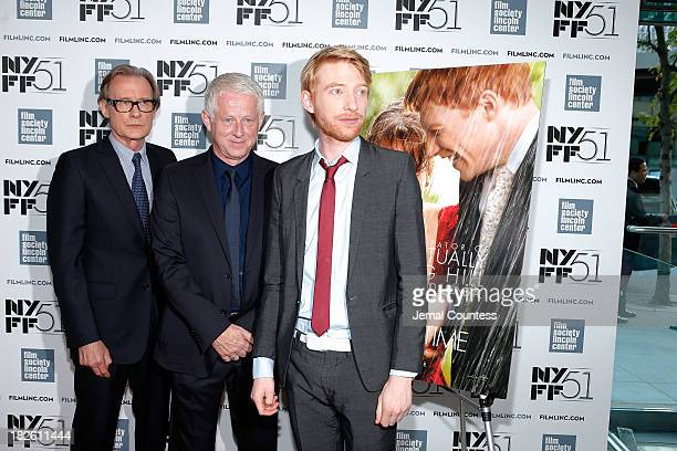 Actor Bill Nighy filmmaker Richard Curtis and actor Domhnall Gleeson attend the About Time premiere during the 51st New York Film Festival at Alice...
